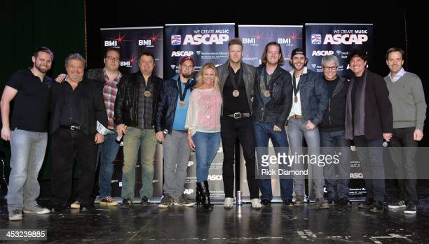 ASCAP Big Machine Label Group and BMI Hosts Florida Georgia Line and Celebrates 'Round Here' No 1 song Awardwinning songwriters Rodney Clawson Chris...