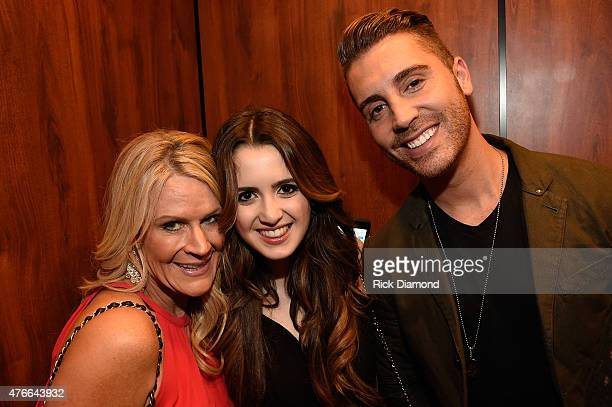 Big Machine Label Group's Allison Jones Laura Marano and 'American Idol' winner Nick Fradiani attend the 2015 CMT Music Awards After Party at the...