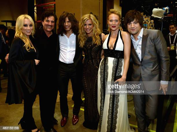 Big Machine Records Vice President Sandi Spika Borchetta Big Machine Label Group President and CEO Scott Borchetta recording artists Reid Perry...