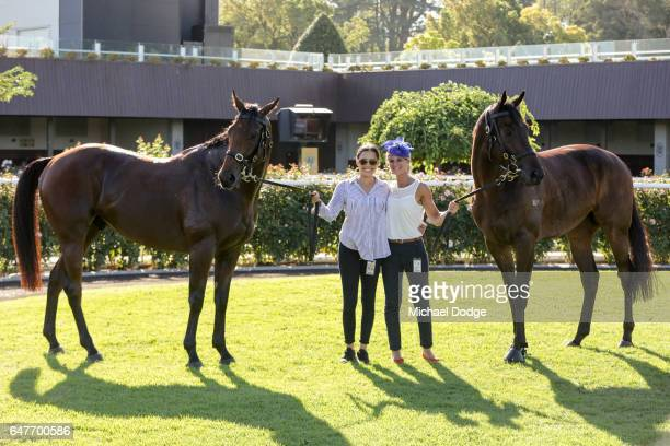Big Memory with strapper Raquel Bennett after winning the 3AW Roy Higgins Quality with strapper Camille Piantoni and the winner of the Australian...