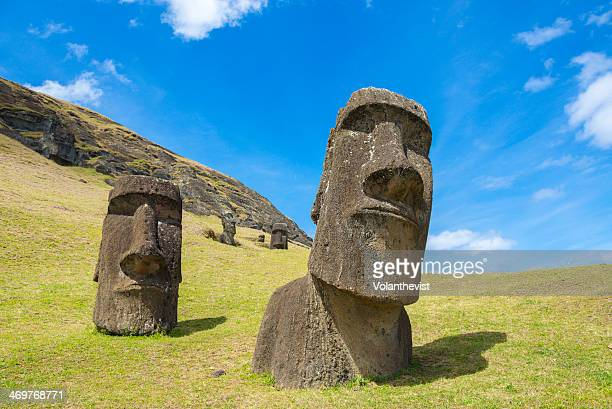 Big moai in Ranu Raraky quarry, Easter island