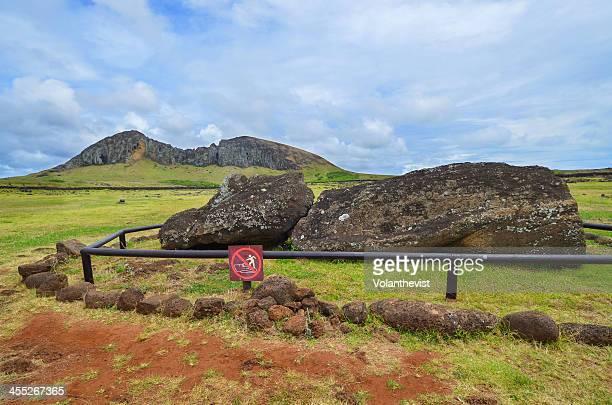 Big moai lying in w/ Ranu Raraku moai quarry