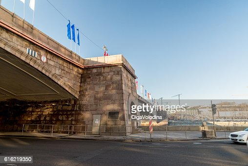 Big Moskvoretsky bridge in Moscow, Russia : Stock-Foto