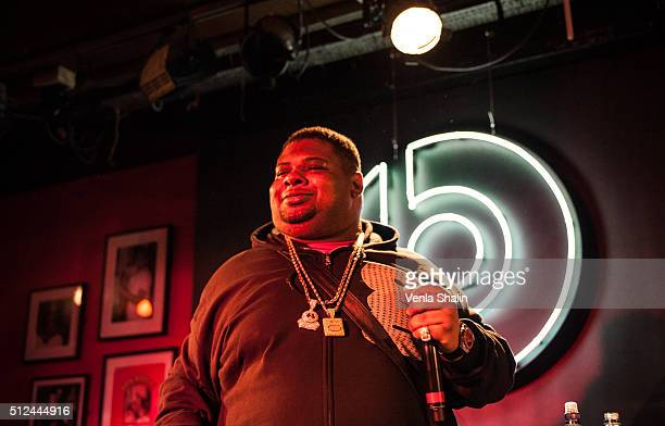 Big Narstie performs at The 100 Club on February 24 2016 in London England