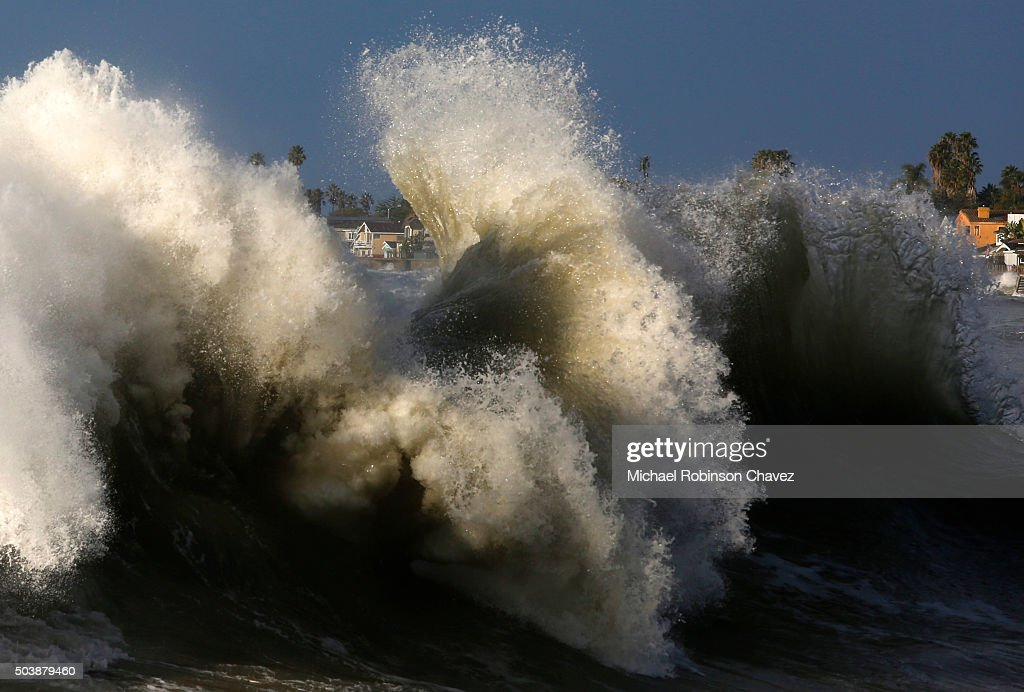 A big northwest swell combined with a high tide on Thursday morning along the southern California coast resulting in seaside communities being...