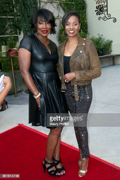 Big Percy and MC Lyte attend The Comedy Underground Series at The Alex Theatre on June 26 2017 in Glendale California