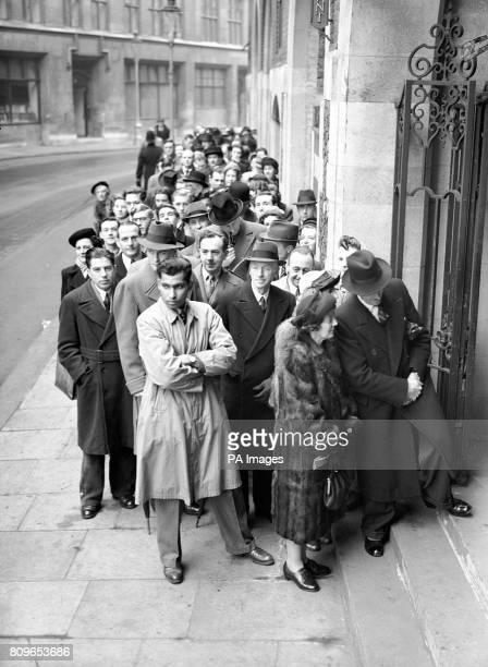 A big queue forms outside Church House as Sidney Stanley continued his evidence at the tribunal of inquiry into allegations of corruption among...