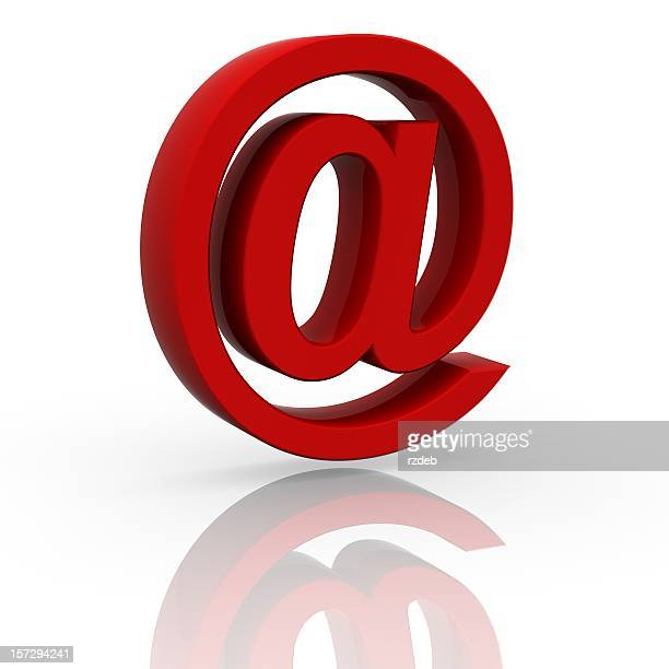 Gros rouge signe de courrier électronique