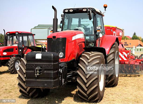 big red new tractor