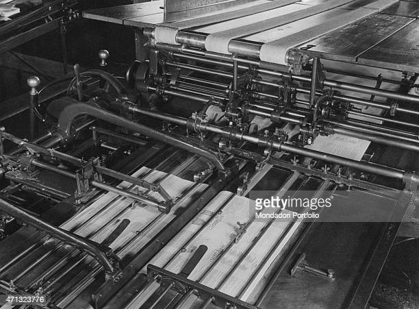 A big rotary press working 1950s