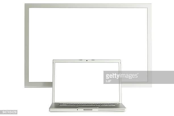 Leinwand und laptop