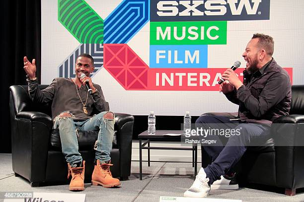 Big Sean and Elliott Wilson attend CRWN @ SXSW A Conversation with Elliott Wilson and Big Sean for WatchLOUDcom on March 18 2015 in Austin Texas