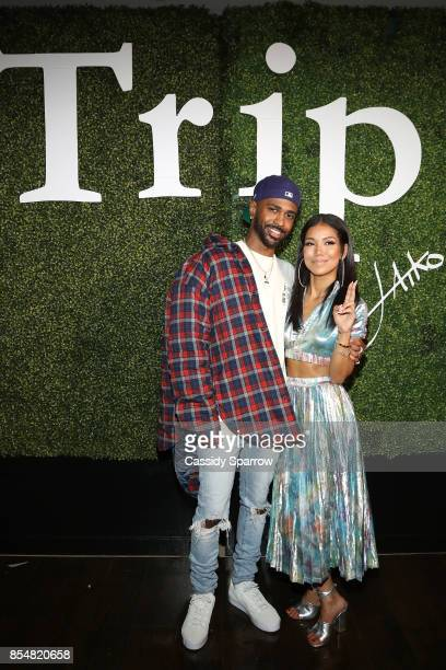 Big Sean and Jhene Aiko attend Jhene Aiko on a TRIP An Interactive Artistic Exhibition Unveiling Jhene's MAP powered by Samsung on September 26 2017...