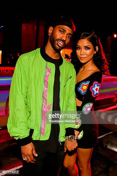 Big Sean and Jhene Aiko attend The Jeremy Scott Moschino party at The Delano Hotel on December 1 2016 in Miami Florida