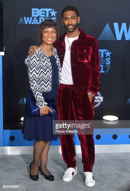 Big Sean and Myra Anderson attend the 2017 BET Awards at Microsoft Theater on June 25 2017 in Los Angeles California