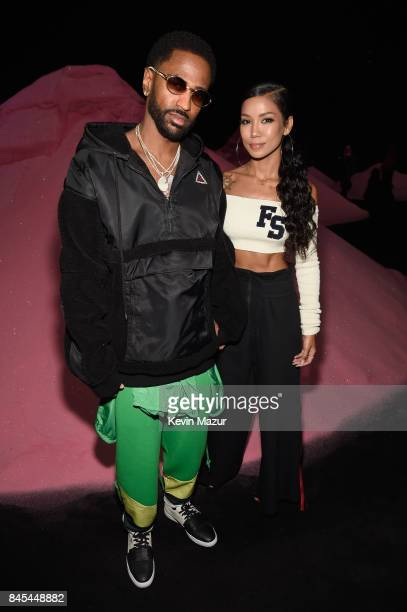 Big Sean and singer Jhene Aiko attend the FENTY PUMA by Rihanna Spring/Summer 2018 Collection at Park Avenue Armory on September 10 2017 in New York...