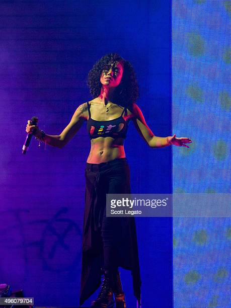 Big Sean and with special guest Jhene Aiko perform in concert in his hometown of Detroit at Joe Louis Arena on November 6 2015 in Detroit Michigan