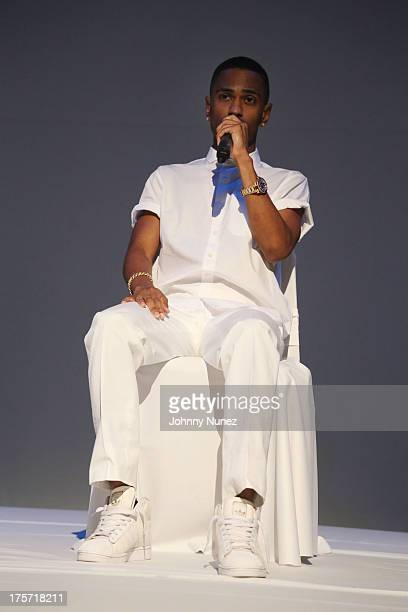 Big Sean attends Big Sean 'Hall of Fame' Listening Event at 41 Broad Street on August 6 2013 in New York City
