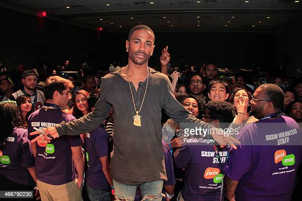 Big Sean attends CRWN @ SXSW A Conversation with Elliott Wilson and Big Sean for WatchLOUDcom on March 18 2015 in Austin Texas