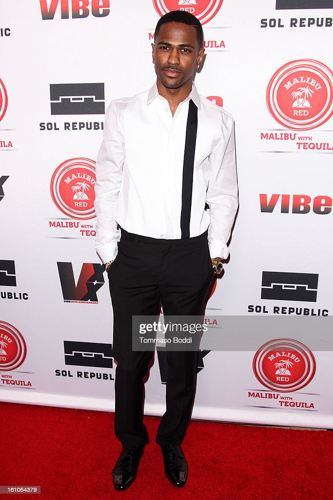 <a gi-track='captionPersonalityLinkClicked' href=/galleries/search?phrase=Big+Sean&family=editorial&specificpeople=4449582 ng-click='$event.stopPropagation()'>Big Sean</a> attends the Vibe Magazine 20th anniversary celebration held at the Sunset Tower on February 8, 2013 in West Hollywood, California.