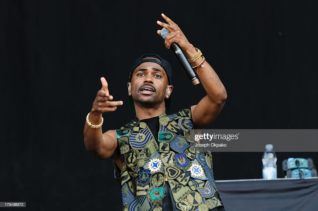 Big Sean attends/performs on day 3 of the Yahoo! Wireless Festival at Queen Elizabeth Olympic Park on July 14, 2013 in London, England.