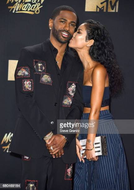 Big Sean Jhene Aiko arrives at the 2017 MTV Movie And TV Awards at The Shrine Auditorium on May 7 2017 in Los Angeles California