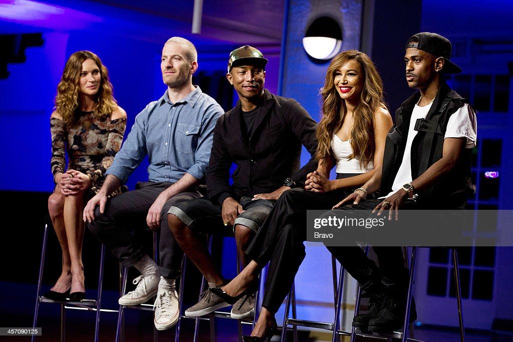 ROCK 'Big Sean Naya Rivera in the Spotlight' Episode 109 Pictured Judges Erin Wasson Mel Ottenberg Pharrell Williams Naya Rivera Big Sean