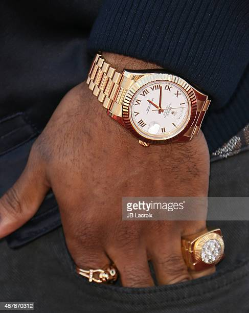 Big Sean watch detail attends the Think It Up education initiative telecast for teachers and students hosted by Entertainment Industry Foundation at...