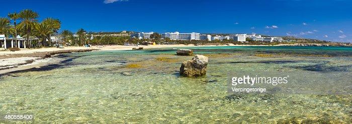 Big seascape of Agia Napa village  Cyprus island : Stock Photo