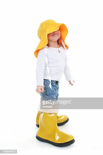 Big Shoe Children: Little girl in rain wear