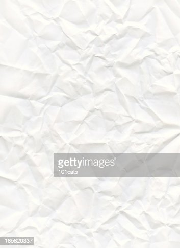 big size crumpled white paper