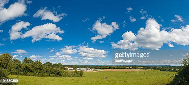 Big skies over farm and field