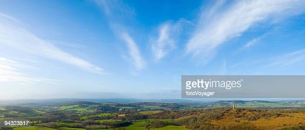 Big sky over rural landscape