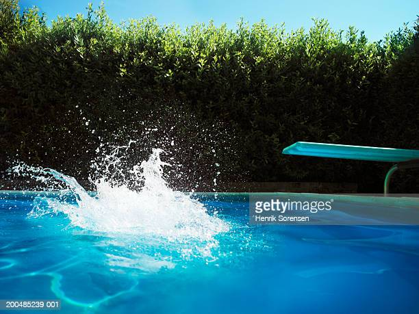 Big splash in swimming pool