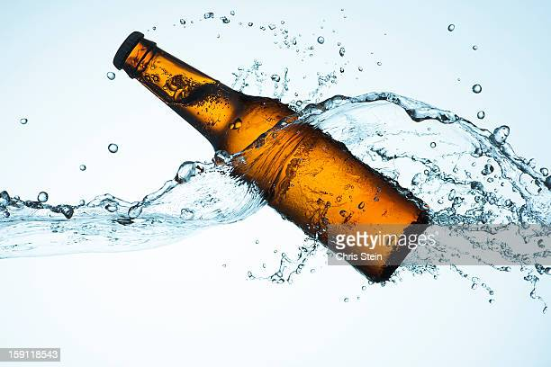 Big Splash with Beer Bottle