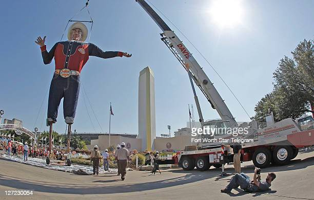 Big Tex arrives for the 2011 State Fair in Dallas Texas Monday September 26 2011