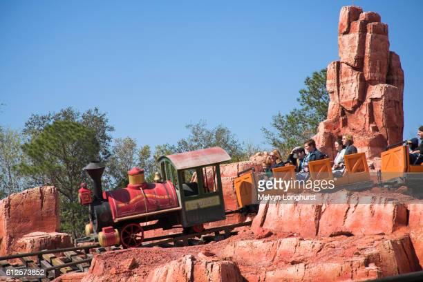 Big Thunder Mountain Railroad ride, Frontierland, Magic Kingdom, Disney World, Orlando, Florida, USA