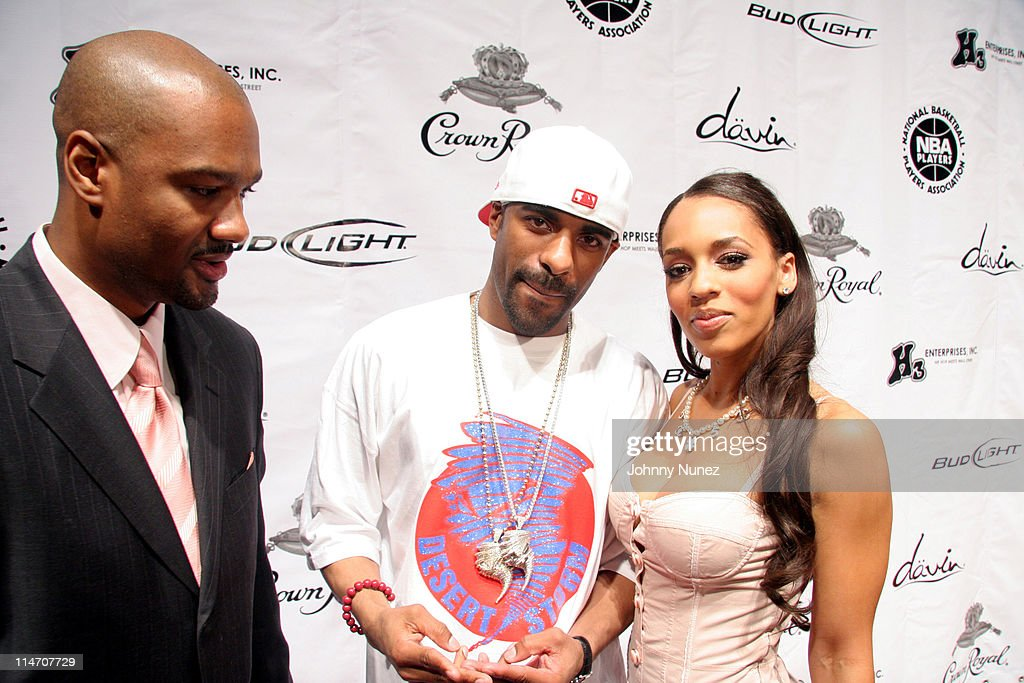 Big Tigga DJ Clue and Melyssa Ford during NBA Players Association Gala February 18 2006 at Houston Convention Center in Houston Texas United States