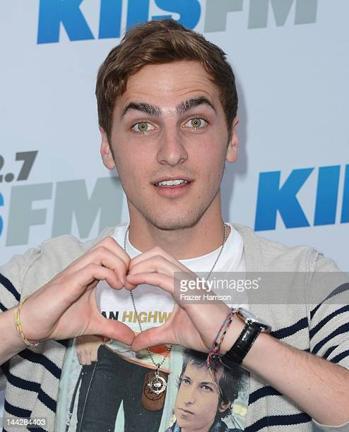 Big Time Rush band member Kendall Schmidt arrives at 1027 KIIS FM's Wango Tango at The Home Depot Center on May 12 2012 in Carson California