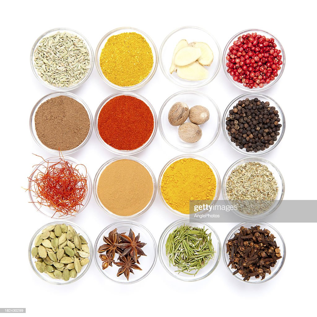 Big variety of spices