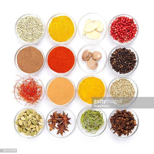 Grande variété d'épices