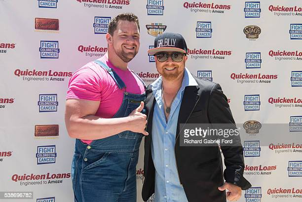 Big Vinny Hickerson and Butter of the band Trailer Choir attend the Craig Campbell celebrity cornhole challange on June 7 2016 in Nashville Tennessee