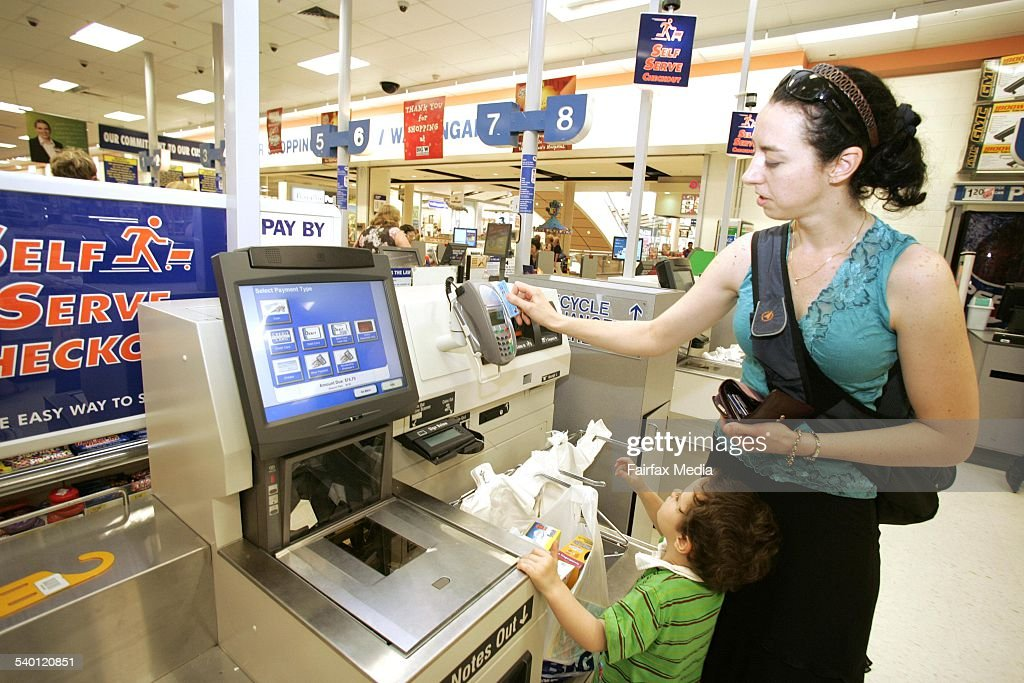A Big W Self service checkout at Waringah Mall Waringah 8 January 2007 AFR Picture by PHIL CARRICK
