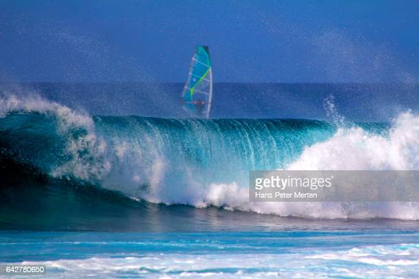 Big wave and surfer, Island of Sal, Cape Verde