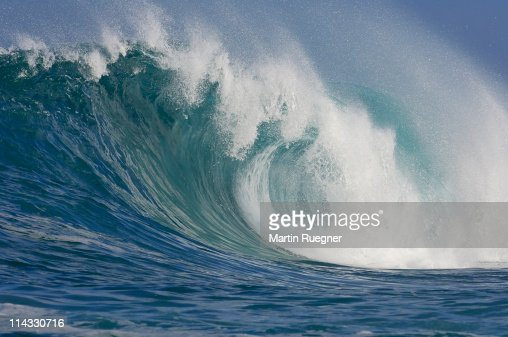 Big Wave at the North Shore of Oahu. : Stock Photo