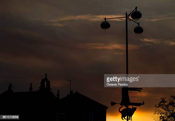 A big witch on the Witches' Night on October 13 2017 in Montalegre Portugal Witches Night occurs whenever the 13th falls on a Friday Villagers dress...