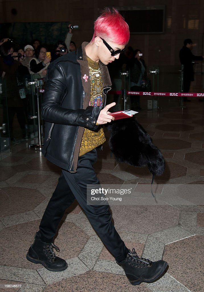 Bigbang is seen at Gimpo International Airport on December 4, 2012 in Seoul, South Korea.
