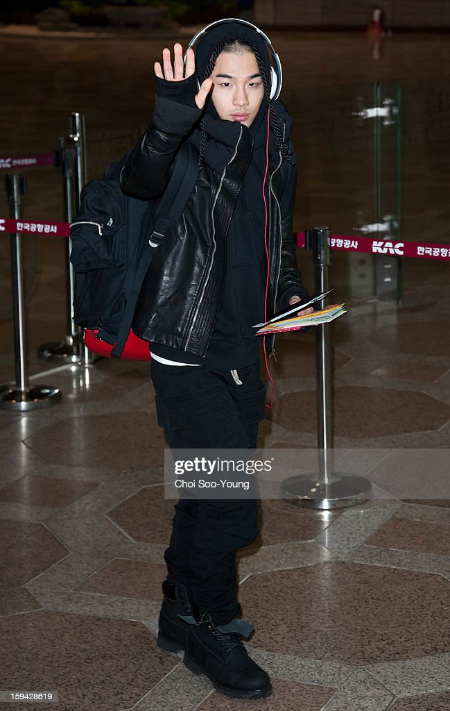 Bigbang is seen at Gimpo International Airport on January 11, 2013 in Seoul, South Korea.