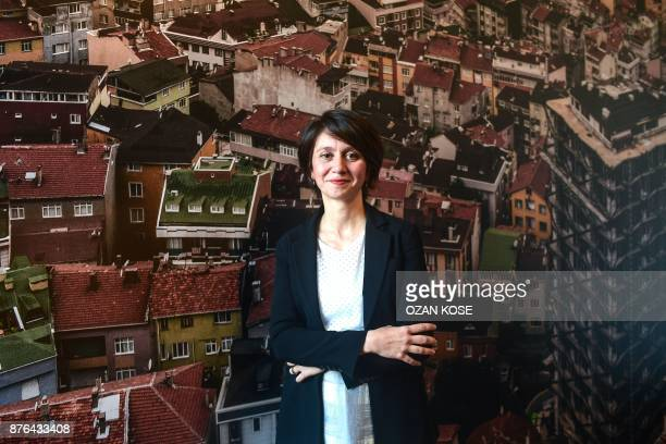 Bige Orer director of the Istanbul Biennal poses during an interview in Istanbul on October 20 2017 Almost immediately after the failed coup against...