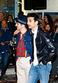 Biggio e Mandelli during the catwalk before the start of the sixtyfifth festival of Italian song of Sanremo on February 9 2015